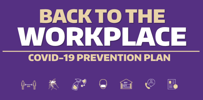 Back to the Workplace COVID-19 Prevention Plan Poster