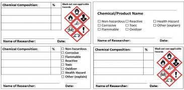 Globally Harmonized System compliant labels